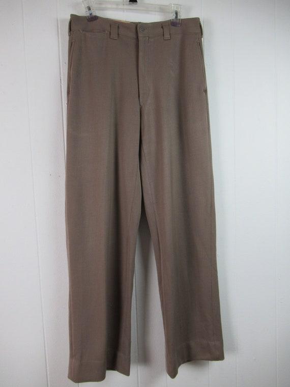 Vintage pants, 1940s pants, Army pants, pinks, mi… - image 2