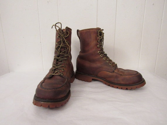 Vintage boots, 1950s boots, leather boots, work bo