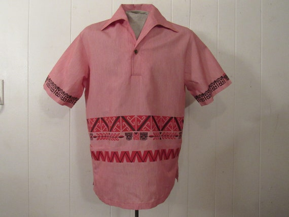 Vintage shirt, Hawaiian shirt, 1970s shirt, vintag
