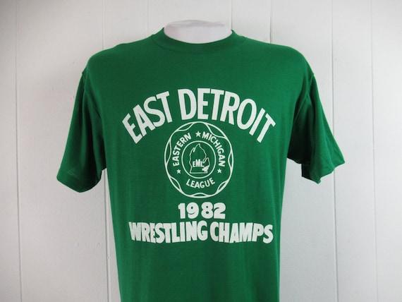 Vintage t shirt, Detroit t shirt, 1980s t shirt, w