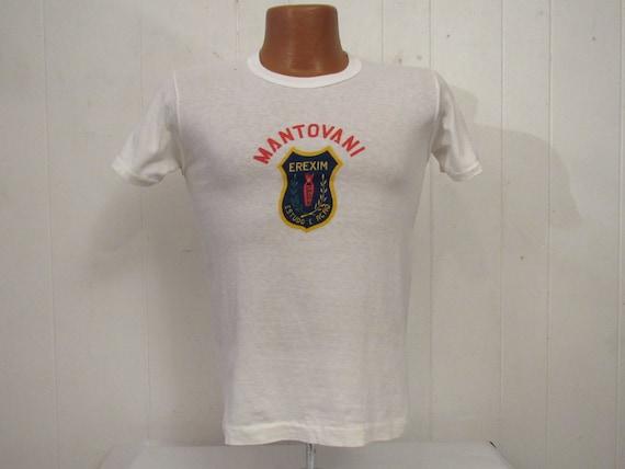 Vintage t shirt, 1960s t shirt, Portuguese t shirt