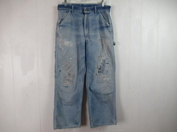 Vintage pants, distressed pants, Lee pants, denim