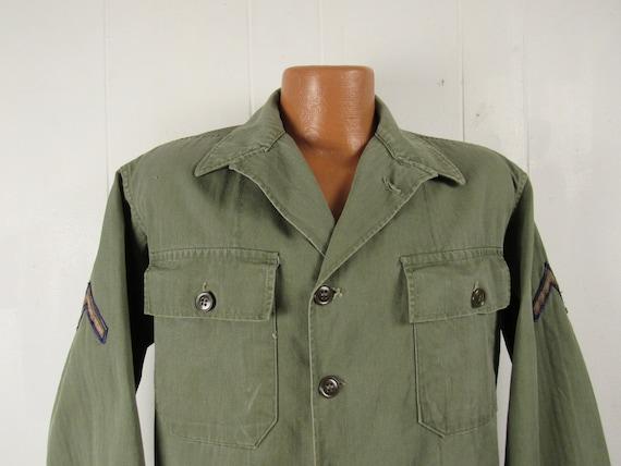 Vintage jacket, Army jacket, 1950s jacket, shirt … - image 2
