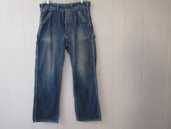 Vintage pants, denim pants, 1930s work pants, 1930