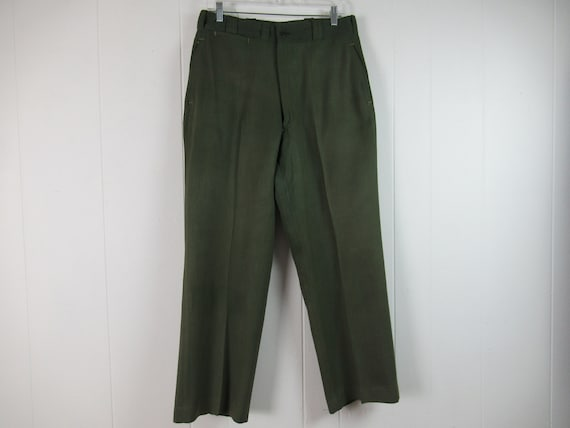 Vintage pants, gabardine pants, Army pants, 1950s