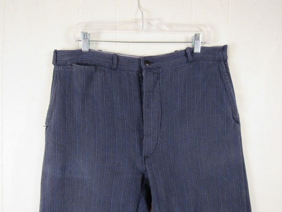 Vintage pants, 1930s work pants, cotton pants, cor