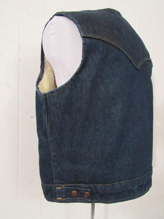 Vintage denim vest, vintage vest, cowboy western … - image 4