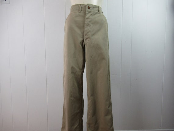 Vintage pants, high waisted pants, khaki pants, Ar