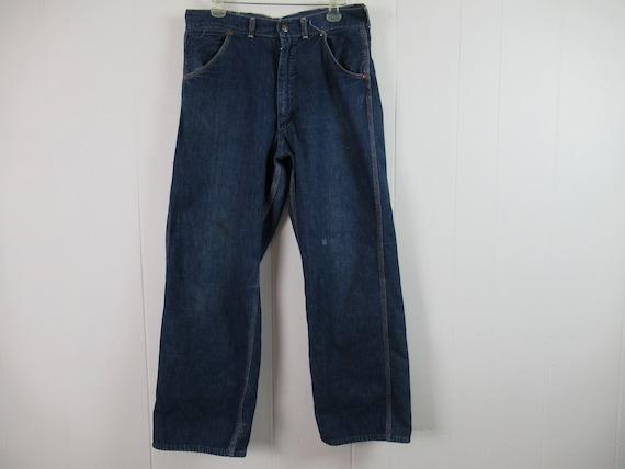 Vintage pants, denim pants, 1950s pants, vintage d