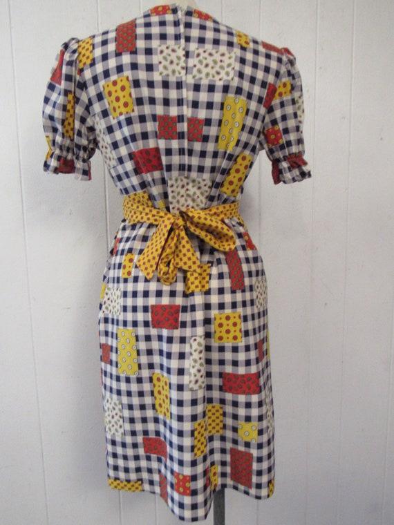 Vintage dress, 1960s dress, patchwork print dress… - image 5