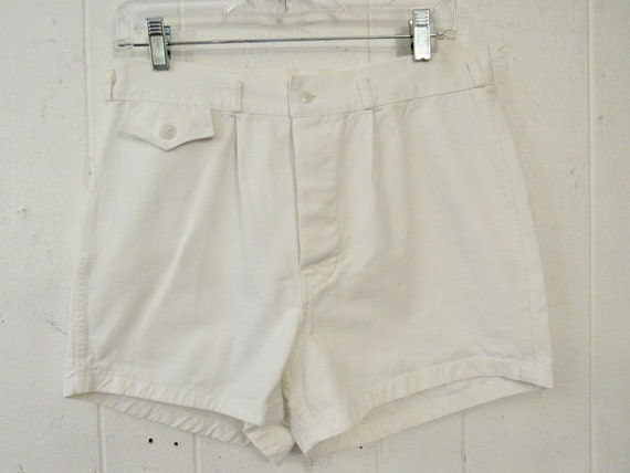 Vintage shorts, 1930s shorts, white cotton shorts,