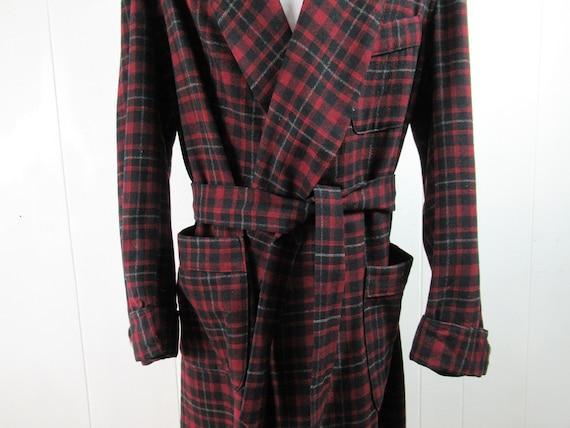 Vintage robe, 1940s robe, Pendleton robe, plaid ro