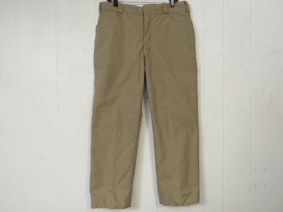 Vintage pants, hunting pants, 1960s pants, lined p