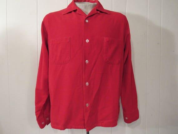 Vintage shirt, corduroy shirt, 1960s Rockabilly s… - image 1