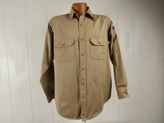 Vintage shirt, 1940s shirt, vintage work shirt, kh