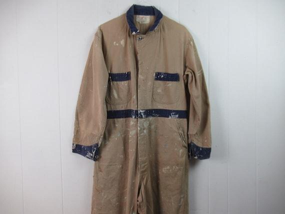 Vintage coveralls, vintage workwear, 1940s covera… - image 1
