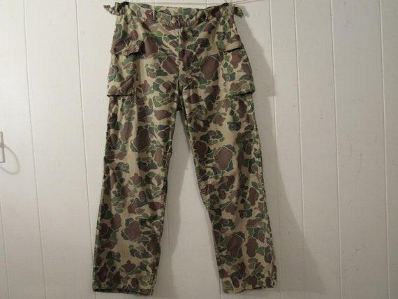 Vintage pants, 1960s pants, Camo pants, hunting pa