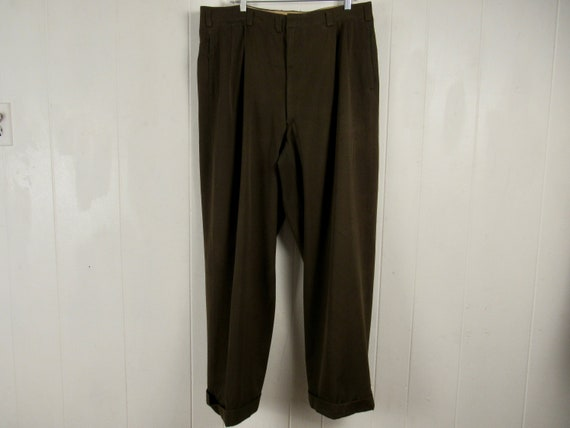 Vintage pants, size 38 x 30, gabardine pants, 1950