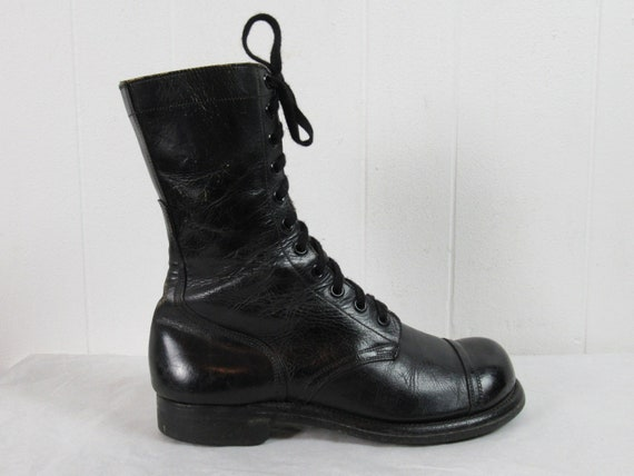 Vintage boots, combat boots, 1950s boots, military