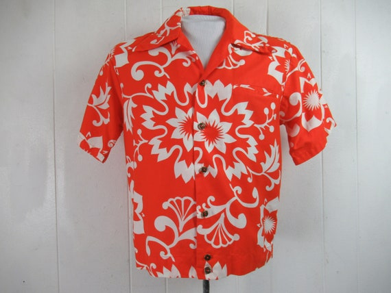 Vintage shirt, Hawaiian shirt, 1960s shirt, vintag