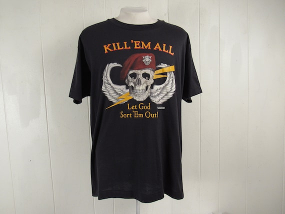 Vintage t shirt, skull t shirt, 1980s t shirt, Spe