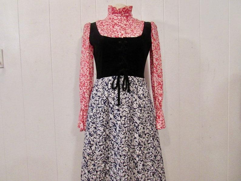 8fbebda0435 Vintage dress 1960s dress prairie dress Edwardian dress