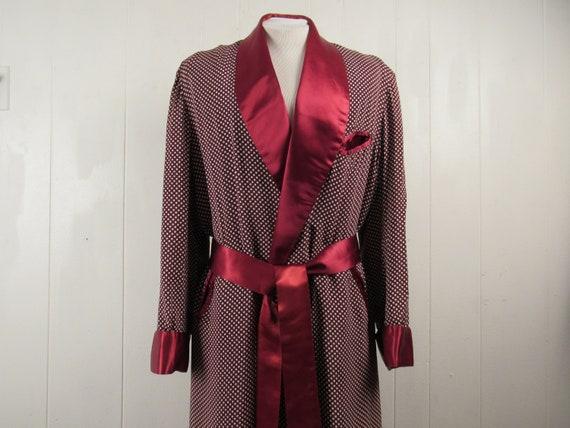 Vintage robe, 1940s robe, Playboy robe, smoking ro