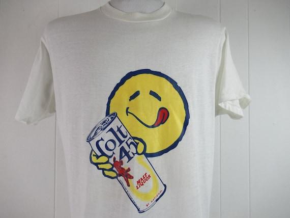 Vintage t shirt, 1960s t shirt, Colt 45 t shirt, b