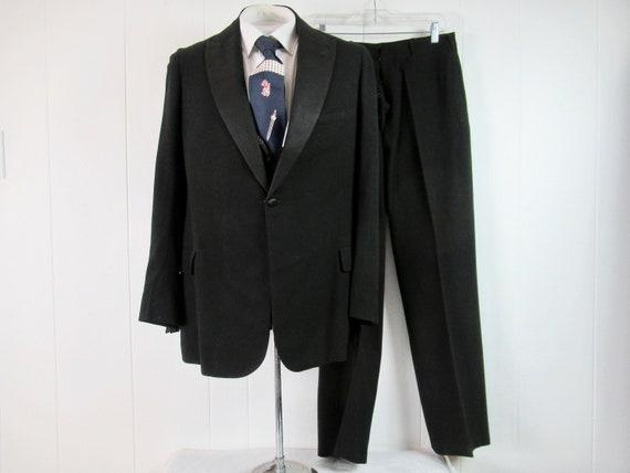 Vintage tuxedo, 1920s tuxedo, 3 piece suit, jacket