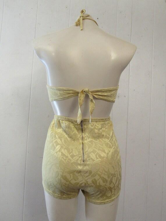 Vintage swimsuit, 1940s Bikini, pin up bikini, 2 … - image 4