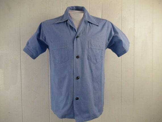 Vintage shirt, 1930s shirt, short sleeve shirt, bl