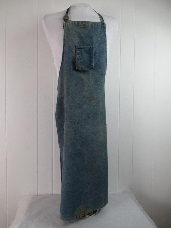 Vintage work apron, vintage workwear, work apron,… - image 4