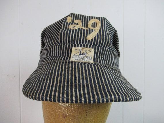 Vintage hat, Engineer hat, Lee housework, vintage