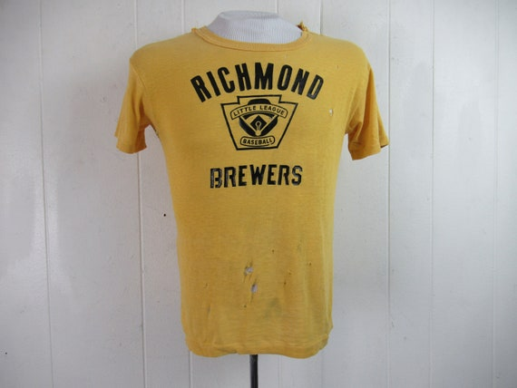 Vintage t shirt, 1960s t shirt, Richmond Brewers,
