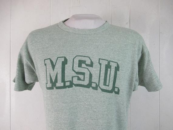 Vintage t shirt, MSU t shirt, 1970s t shirt, Champ