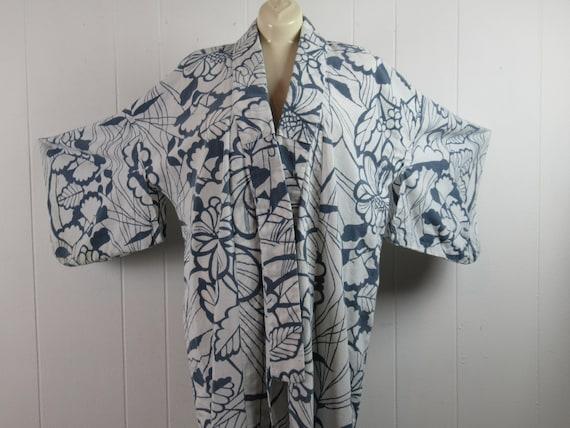 Vintage kimono, cotton kimono, Japanese robe, 1950