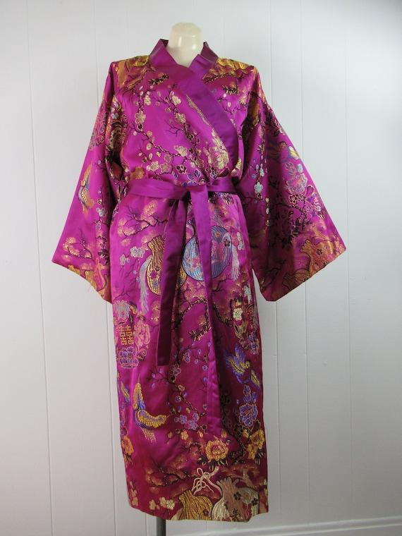 Vintage kimono, vintage robe, silk robe, silk kimo