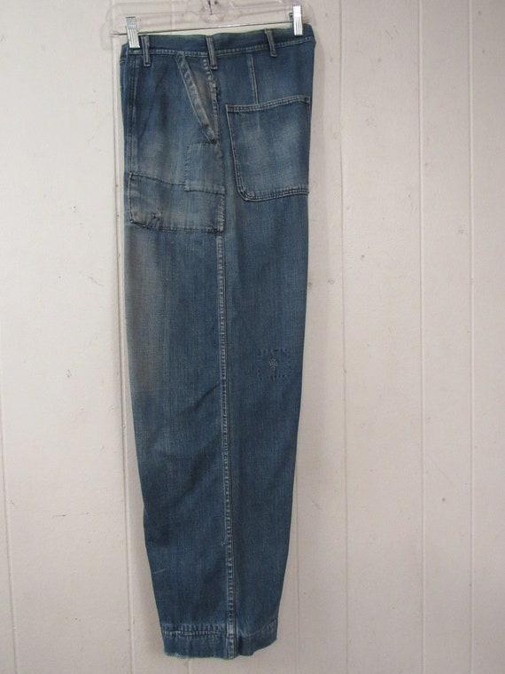 Vintage pants, 1940s pants, patched pants, 1940s … - image 6