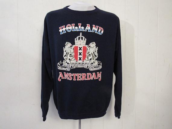 Vintage sweatshirt, blue sweatshirt, 1970s sweatsh