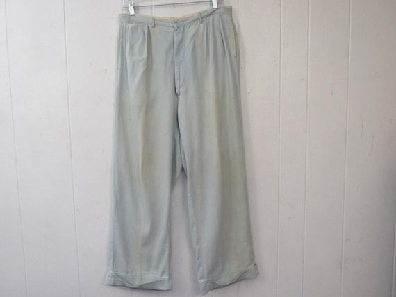 Vintage pants, work pants, 1940s pants, 1940s cham