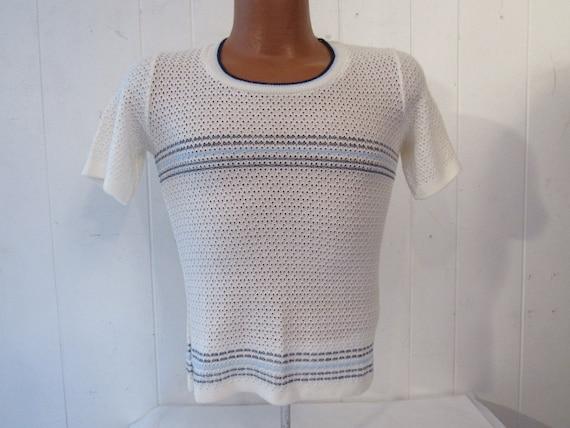 Vintage t shirt, 1970s shirt, 1970s t shirt, strip