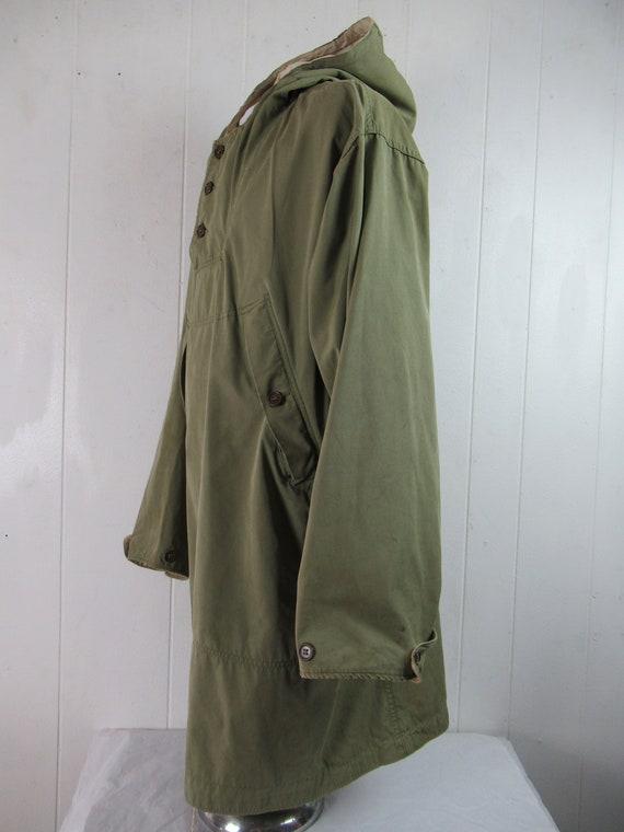 Vintage parka, 1940s jacket, WWII reversible jack… - image 3