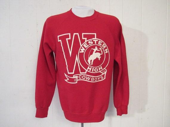 Vintage sweatshirt, school sweatshirt, cowboy swea