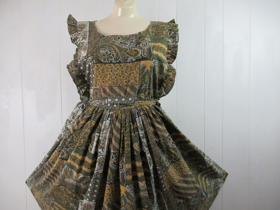 Vintage dress, cotton dress, sun dress, 1960s dres