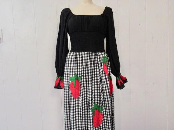 Vintage dress, strawberry dress, Young Edwardian d
