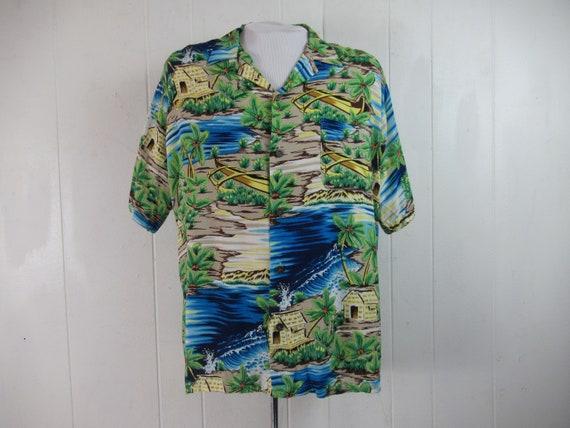 Vintage shirt, vintage Hawaiian, Hawaiian shirt, R