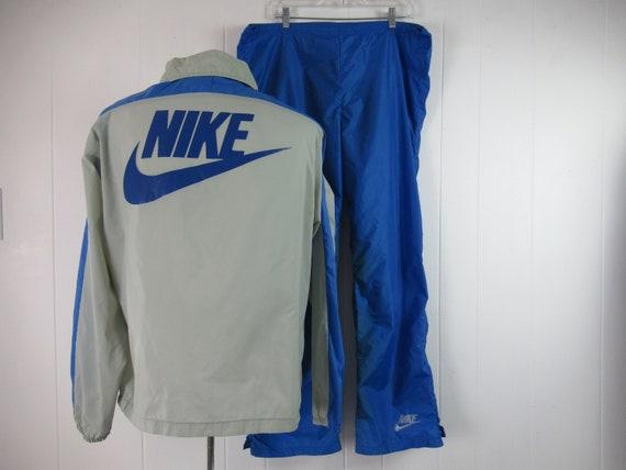 Vintage track suit, vintage Nike, orange swoosh, 1