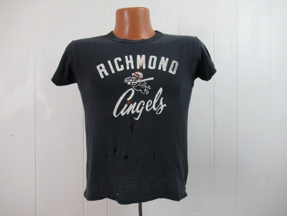 Vintage t shirt, 1960s t shirt, Richmond Angels, b