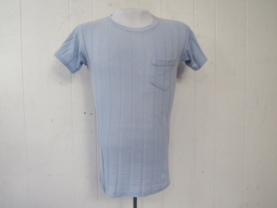 Vintage t shirt, 1950s t shirt, 1950s pocket tee,