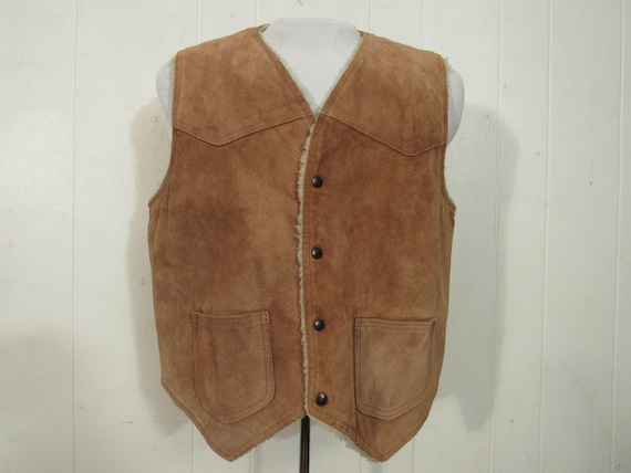 Vintage  vest, suede leather vest, cowboy vest, we